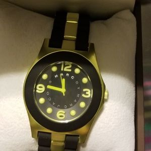 Marc and Jacob's Pelly Black &Lime Green Watch
